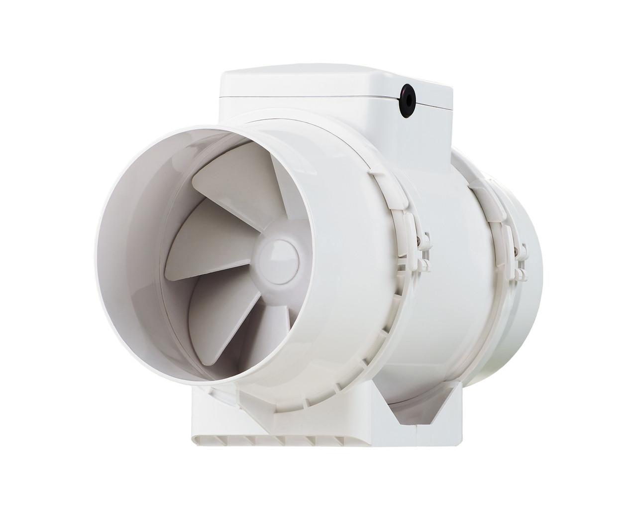 Канальный вентилятор  Вентс 125 ТТ РВ (оборудован выключателем и разьемом IEC С14, 280 м³/ч)