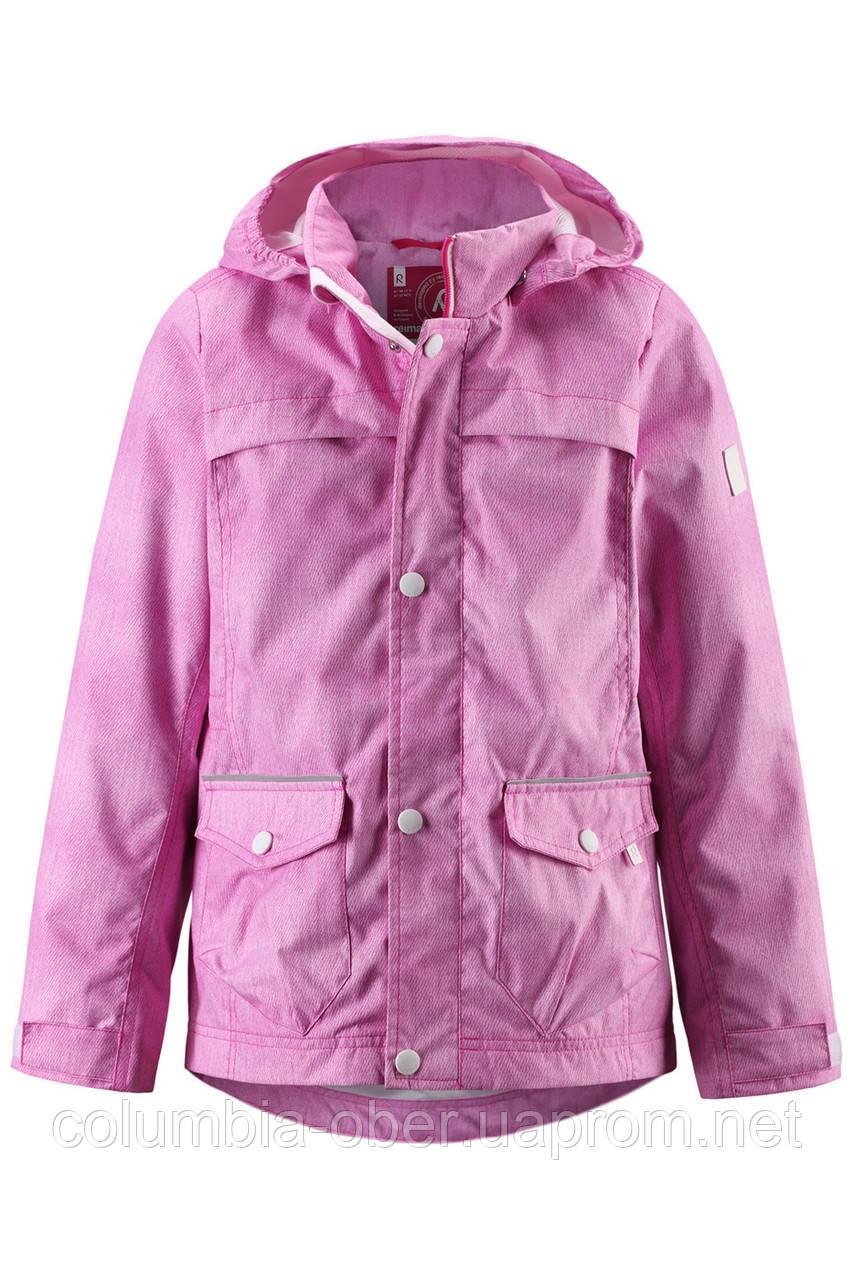 Ветровка для девочки розовая Reima 511157B-4145. Размер 104 и 116.