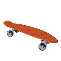 Скейтборд BUFFY/Жовтий оранжевый