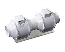 Канальный вентилятор  Вентс 100 ТТ В (оборудован трёхпозиционным выключателем, 187 м³/ч), фото 2