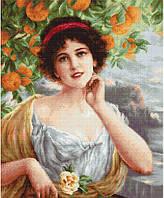 """Набор для вышивания нитками  """"Красавица под апельсиновым деревом"""""""