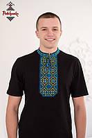 Чоловіча вишиванка Традиційна синьо-жовта, фото 1