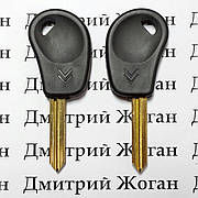 Ключ для Citroen (Ситроен) лезвие SX9, с чипом ID46
