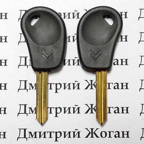 Ключ для Citroen (Ситроен) лезвие SX9, с чипом ID46, фото 2