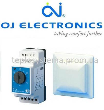 Терморегулятор для систем отопления ETV-1999 OJ Electronics (на DIN-рейку), Дания, фото 2