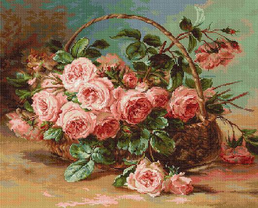 "Набор для вышивания нитками  ""Корзина с розами"", фото 2"