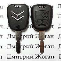 Авто ключ для Citroen (Ситроен) 2 кнопки, с чипом ID46, PCF 7941,433Mhz, лезвие NE78