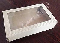 Коробка из гофрокартона с окном большая