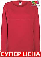 Женская легкая кофта реглани приталеная свитшот Цвет Красный Размер S 62-146-40 S