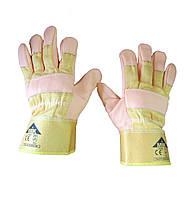 Перчатки рабочие комбинированные спилком и кожей, пятипалые  EC 006 А