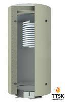 Аккумулятор тепла KRONAS с верхним спиральным теплообменником из нержавейки объём 1000л