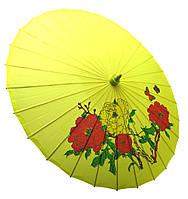Зонт шелковый с рисунком L~57см, Ø~85см (28475)
