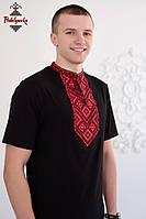 Чоловіча вишиванка Повстанська червона, фото 1