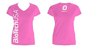 Футболки женские BioTechUSA T-Shirt for women Pink