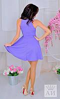 Платье женское с юбкой клеш.