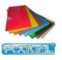 Поликарбонат сотовый Polygal 6 мм Цветной