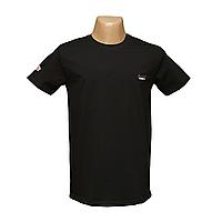 Мужская черная стрейчевая футболка Lycra пр-во Турция 14035-5