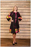 """Платье вышитое фасон № 4 """"Калейдоскоп"""" лён ( арт. PK4.0.2-314 ), фото 1"""