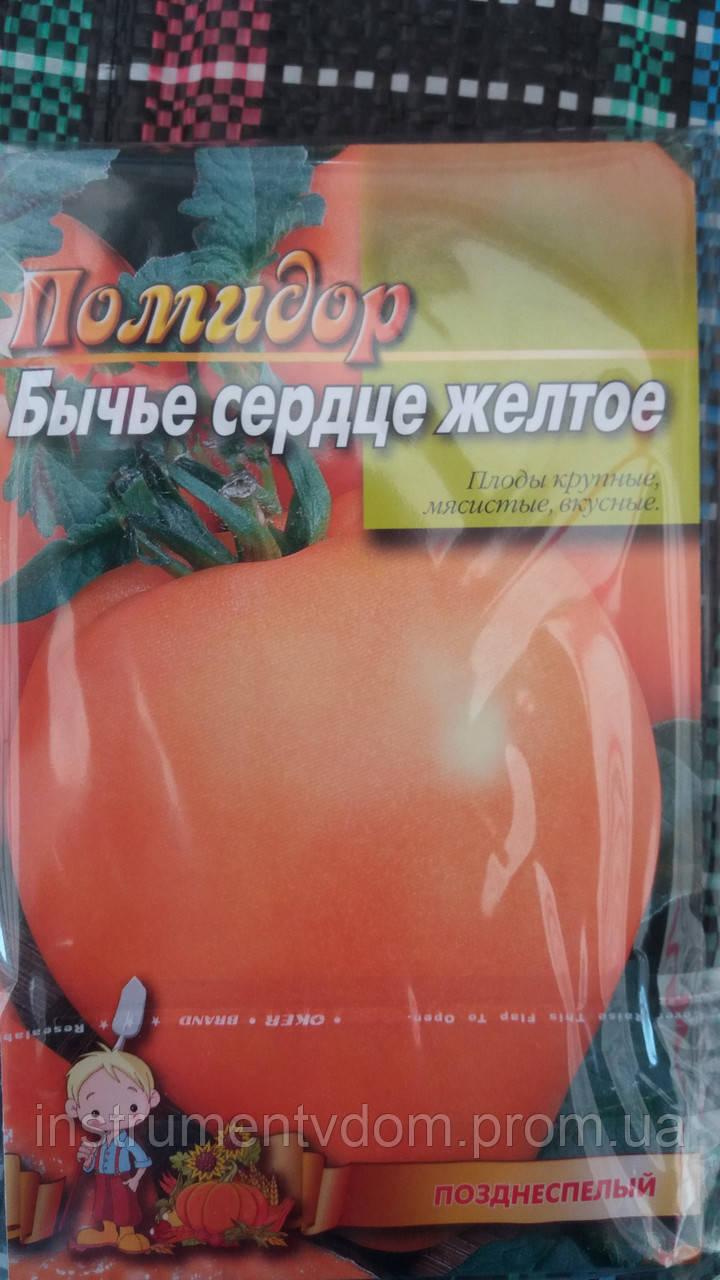 """Семена томатов """"Бычье сердце желтое"""", 5 г (упаковка 10 пачек)"""