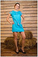 """Платье вышитое  """"Столітнє"""" с коротким рукавом ( арт. PK14-96.12.18 ), фото 1"""