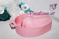 Ванночка для маникюра, розовая (ракушка)