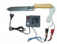 Нож пасечный с электроподогревом из Нержавеющей стали с блоком питания и регулятором мощности
