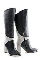 Сапоги женские Oscar Fur  80186 в-1818 Черно-белые, фото 1