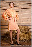 """Платье вышитое """"Родинне дерево"""" лён ( арт. PK2.0.1-98.3.17 ), фото 1"""