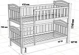 """Кровать двухъярусная  детская подростковая от """"Wooden Boss"""" Даниель Плюс (спальное место 90 см х 190/200 см), фото 2"""