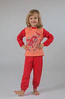 Пижама для девочки (коралл-персик )  с начёсом р.92-122см