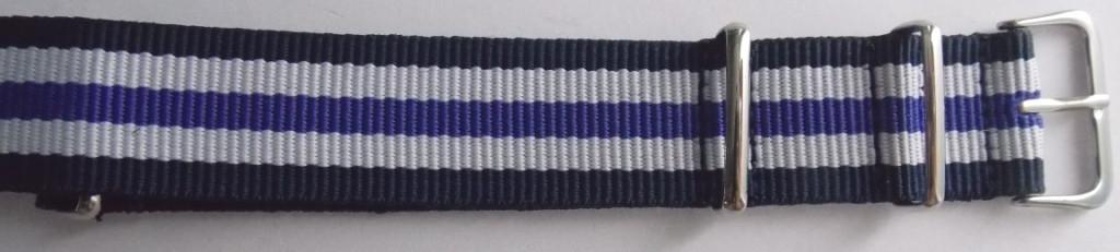 Ремешок капроновый NATO (Польша) 20 мм син/бел/фиол