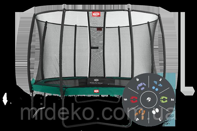 Батут Berg Elit+Regular Green Tattoo 430+Safety Net T-series 430, фото 1