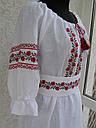 Платье вышитое с корсетным поясом , фото 4