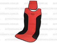 Накидка на сидение 25051/7 черная/красн. (2шт.), фото 1