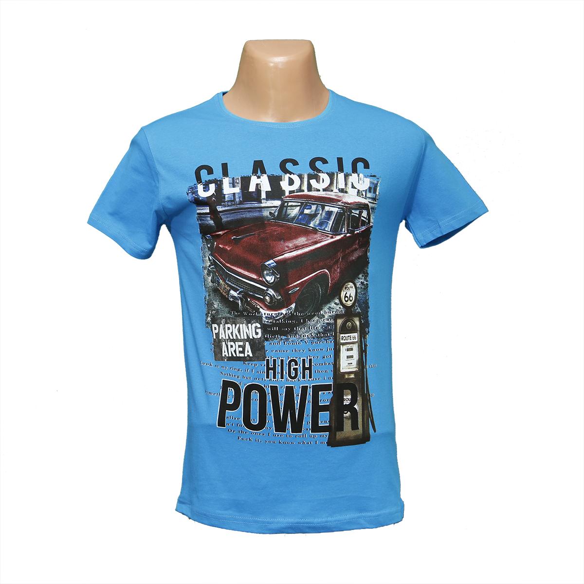 Молодежная футболка синяя POWER Турция 2486