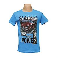 Молодежные футболки в интернет магазине недорого синяя POWER Турция 2486
