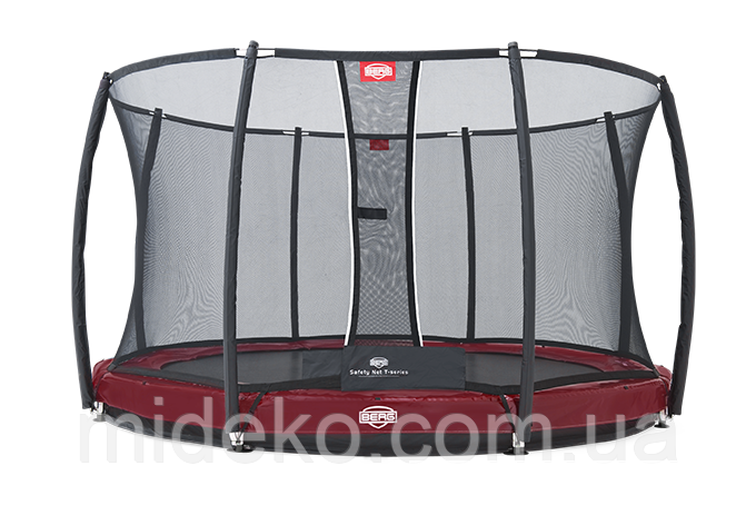 Батут Berg Elite+InGround Red 430+Safety Net T-series 430, фото 1