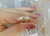 Серебряние кольцо Прикосновение рук