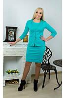Костюм женский платье + жакет мята, фото 1