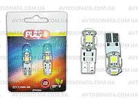 Лампочка без цок.Т10  5LED PULSO LP-21255 SMD-5050/Canbus/12V White, фото 1