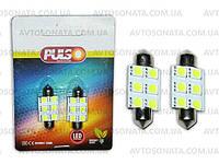 Лампочка софитная  6LED SMD-50x50 12V/36мм White PULSO LP-85366, фото 1