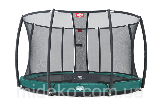 Батут Berg Elite+ InGround Green 330+Safety Net T-series 330, фото 1