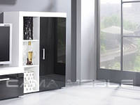 Шкафчик стоячий Samba Белый + черный