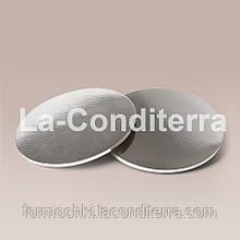 Усиленные подносы для тортов, серебристые (d=35 см, толщина 8 мм)