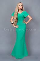 Модное трикотажное длинное платье