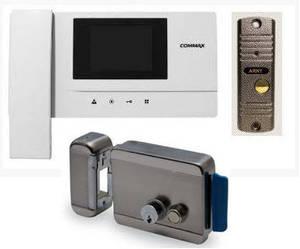 Установка видеодомофонов с электрозамком