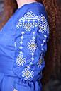 Платье отрезное по талии,вышитое, фото 3