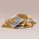 Усиленные прямоугольные подносы для тортов, золотистые (35x45 см, толщина 8 мм), фото 2
