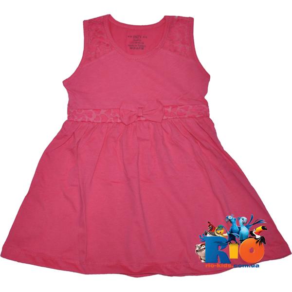 Детский сарафан с гипюром , трикотажный , для девочек (1-2)(3-4)(5-6)(7-8)(9-10)