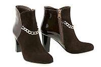 Женские замшевые ботинки на каблуке.  / women's shoes  80153-02 /03, фото 1